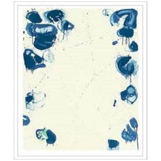 有Sam Francis室內裝飾藝術設計師藝術Blue Ballsiv 1960美工公司65*96cm墻壁裝飾額頭的抽象畫郵購電影收集