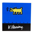 キースヘリング メモ帳 スクエアメモパッド ブルー POP ART APJ 文房具 ステーショナリー アーティストグッズ メール便可 シネマコレクション