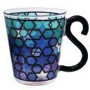 マグカップ COLORE 耐熱 ガラス マグ ブライトブルー アルタ 300ml ギフト食器 おしゃれグッズ シネマコレクション 1