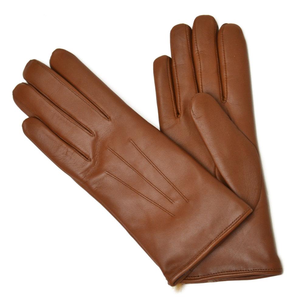 手袋・アームウォーマー, レディース手袋 DENTS 17 1061 COGNAC BROWN