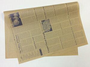 英字新聞柄包装紙 未晒クラフト紙 薄口50g/m2 約76cm×53cm(100枚入り)ネイビーブルー 包装紙 ラッピング ギフト ギフト包装 贈り物 プレゼント 英字 ギフトラッピング用品 おしゃれ ハンド