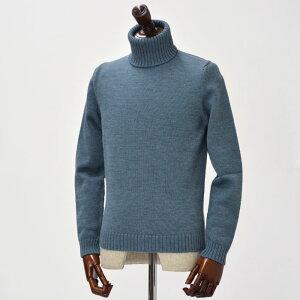 ZANONE【ザノーネ】タートルネックニット 810005 Z3558 wool BLUE×GRAY (ウール ブルー×グレー)