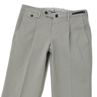 PT011褶褲子NORTHERN LIGHTS CARROT FIT TT02 0223 cotton strech LIGHT GREY(諾森權利胡蘿卜合身棉布伸展淡灰)