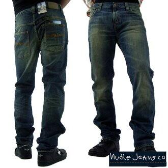 Nudie jeans シンフィン Lo York thin skinny legs organic distressed Tinto NUDIE JEANS THIN FINN LOW YOKE THIN SKINNY LEGS Organic Used Tint