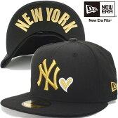 ニューエラ 5950キャップ ハートロゴコレクション ニューヨークヤンキース ブラック ゴールドハート New Era 59FIFTY Cap Heart Logo Collection New York Yankees Black Gold Heart【あす楽対応_近畿】【あす楽対応_中国】【あす楽対応_四国】【あす楽対応_九州】