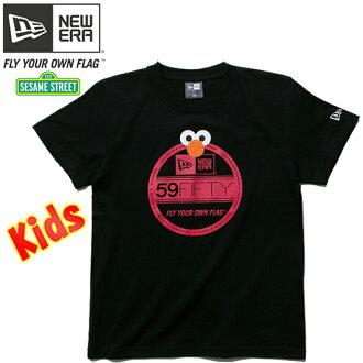 芝麻街 x 新時代孩子 s/S t 恤棉 t 恤遮陽貼 Elmo 芝麻街 × 新時代孩子 S / S t 恤棉 t 恤遮陽貼紙埃爾莫