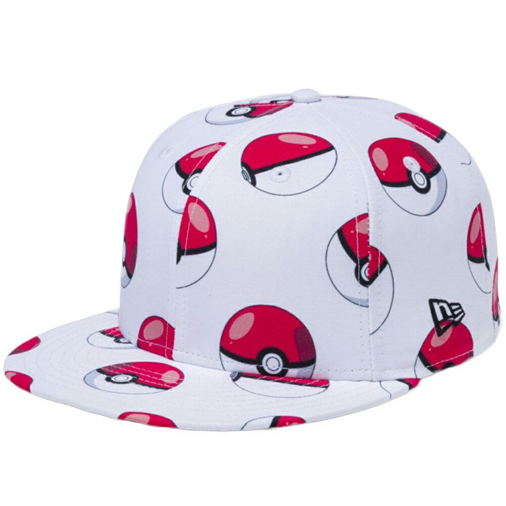 メンズ帽子, キャップ  5950 PokemonNew Era 59FIFTY Cap All Over Poke Ball White Print Black