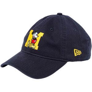 ディズニー×ニューエラ 930キャップ クローズストラップ ミッキーマウス イニシャル ネイビー マニラ Disney×New Era 9THIRTY Cap Cloth Strap Mickey Mouse Initial