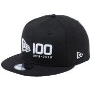 ニューエラ 950 スナップバック キャップ ニューエラ 100th  アニバーサリー ロゴ ブラック スノーホワイト