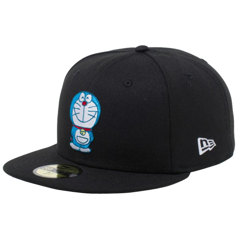 メンズ帽子, キャップ  5950 Doraemon New Era 59FIFTY Cap Multi Logo Black Multi Color Snow White