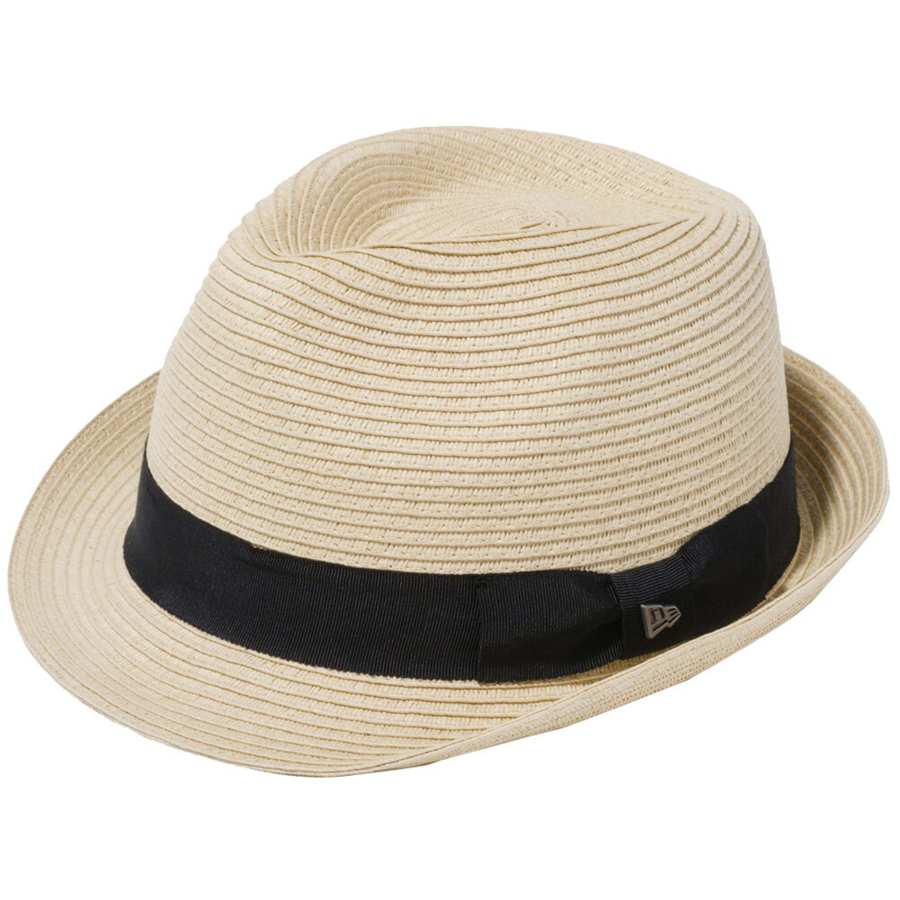 メンズ帽子, ハット  New Era Hat The Trilby Grosgrain Band Natural Paper Rope Metal