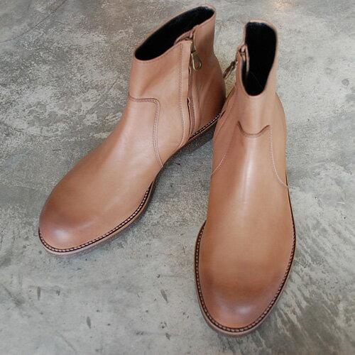【ポイント10倍】 PADRONE パドローネ メンズ SIDE ZIP BOOTS (WATER PROOF LEATHER)/ RAUL サイドジップブーツ 防水レザー / ラウル GREGE グレージュ PU7358-1121-16C 革靴