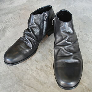 【ポイント10倍】  PADRONE パドローネ SHORT SIDE ZIP BOOTS / TRACY ショートサイドジップブーツ / トレイシー BLACK ブラック PU8395-1203-12C-1 メンズ