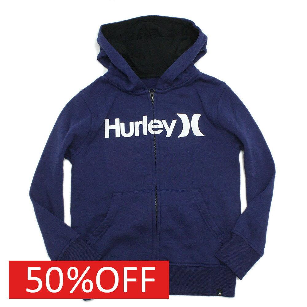 【ハーレーキッズ】【子供服】【Hurley】【子ども服】【ジュニア】【キッズ】 ONE&ONLYジップアップ ネイビー(4EU)