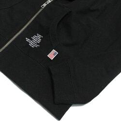【スムージー/SMOOTHY/子供服/ジュニア/男の子/女の子】 USAコットンジップパーカー ブラック