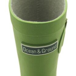 【オーシャンアンドグラウンド/子供服/ベビー/キッズ/ジュニア/ocean&ground】 レインシューズ ライトグリーン(LG)a208a