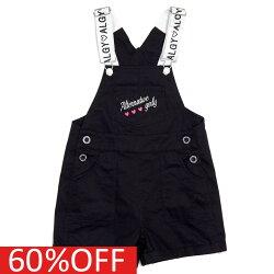 【アルジー/ALGY】 セール 【40%OFF】 バイカラーロゴサロペショーパン ブラック(BK)