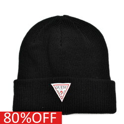 GUESS ゲス GUESSKIDS ゲスキッズ 子供服 セール 【80%OFF】 LOGO BEANIE ブラック(BLK)