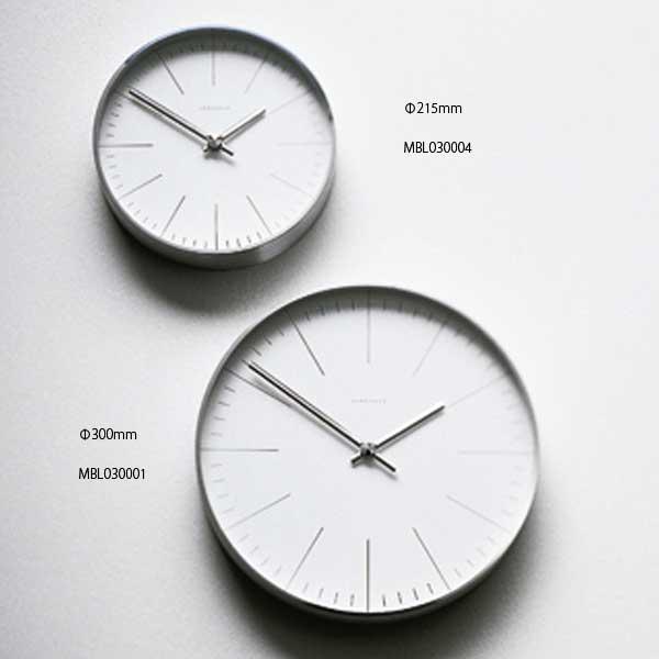 マックス・ビル Max Bill 掛時計 Clock MBL030001 Line Dial 直径300mm :citron glaces