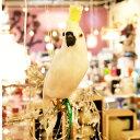 プエブコ PUEBCO ARTIFICIAL BIRDS バードオブジェParrotオウムSサイズ横向き /102078