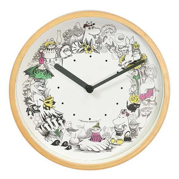 ムーミンタイムピーシーズ Moomin Time Pieces 掛け時計 リース カラーMTP-03-0018