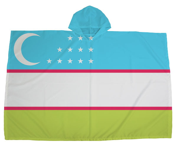ポンチョ 国旗シリーズ(ウズベキスタン)