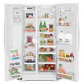 【新生活セール】ワールプールWhirlpoolアメリカ大型冷蔵庫(冷凍冷蔵庫)2ドア冷蔵庫WRS571CIDMステンレス冷蔵庫583L冷水ディスペンサー付【送料無料】GE冷蔵庫からの入れ替えにおすすめ