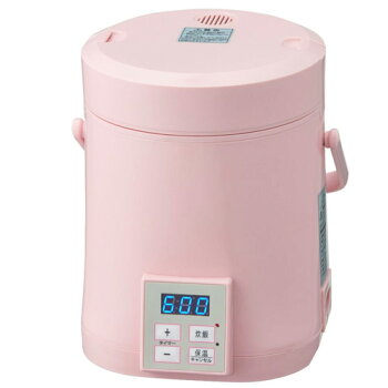 ALCOLLE一人用ミニ炊飯器タイマー付きミニライスクッカー0.5合〜1.5合ARC-T104Pピンク