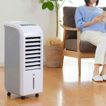冷風機スリム温冷風扇ヒート&クール冷風扇ゼンケンZHC-1200加湿機能付き送料無料保冷剤付きエアコンが苦手な方に扇風機おすすめ冷風扇風機