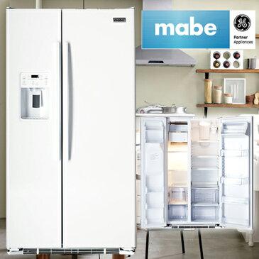 冷蔵庫 mabe マーベ大型冷蔵庫(冷凍冷蔵庫)2ドア冷蔵庫 MSMF2LG WW ホワイト 白 冷蔵庫 623L アイスメーカー付 カスタムディスペンサー付き ウォーターサーバー 観音開き
