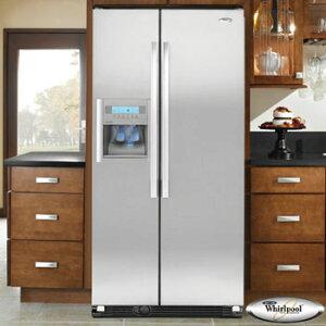 ワールプール Whirlpool アメリカ 大型冷蔵庫 冷凍冷蔵庫 2ドア冷蔵庫 GC3SHAXVA 冷水ディスペ...
