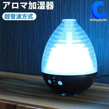 加湿器 卓上 オフィス アロマ対応 おしゃれ USB 小型 ミニ コンパクト 枕元 静音 加湿機 アロマ加湿器 リラミスト 超音波加湿器 USB MES-27 約4.5畳 タイマー付き ミスト 光る LEDライト 寝室 かわいい