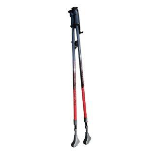 ノルディックウォーキングポールI型グリップ2本セットアルミ製ノルディックポール2段伸縮タイプ約88〜135cmウォーキングポール
