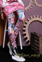 レギンス レディース 10分丈 派手 柄 柄物 かわいい 原宿系 青文字系 ファッション ダンス 衣装 キッズ ヒップホップ 個性的 個性派