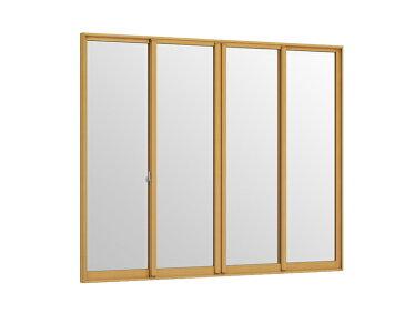 インプラス 引違い窓 4枚建 一般複層透明ガラス W:3,001〜4,000mm × H:258〜600mm 内窓 二重窓 LIXIL リクシル TOSTEM トステム