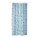 IKEA イケア SKORREN シャワーカーテン ホワイト ブルー b80339182
