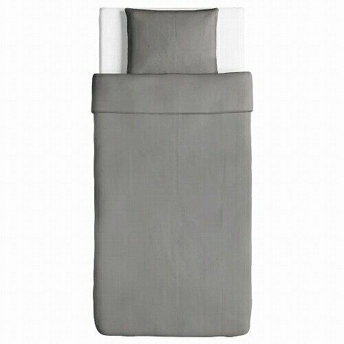 IKEA イケア 掛け布団カバー&枕カバー グレー シングル 10318668 ANGSLILJA