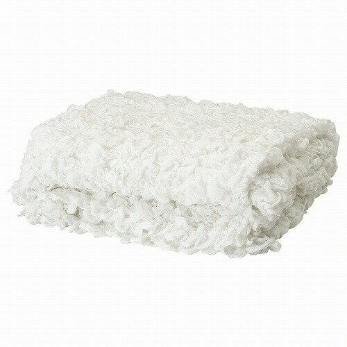 IKEA イケア OFELIA 毛布 130x170cm ホワイト 白 ベッドカバー シングル d60173856