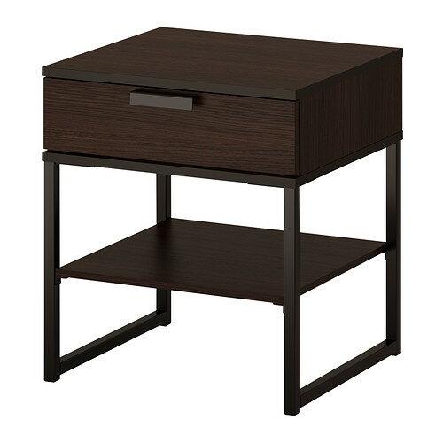 IKEA イケア ベッドサイドテーブル ダークブラウン ブラック 黒 45x40cm TRYSIL b70355747