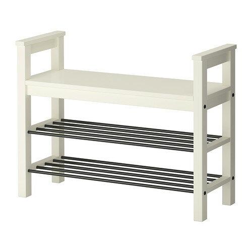 IKEA イケア HEMNES ベンチ 靴収納付き ホワイト 白 d40243799