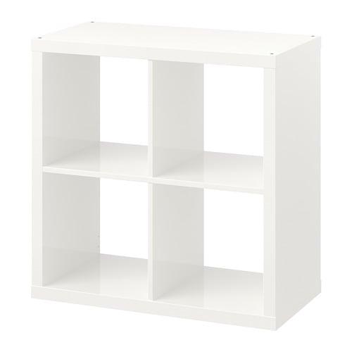 IKEA イケア KALLAX カラックス シェルフユニット ハイグロス ホワイト 白 r60471728の写真