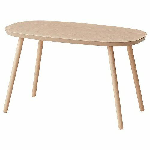 IKEA イケア コーヒーテーブル 80x43cm ホワイトステインオーク材突き板 z30392167 ASFRED