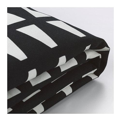 IKEA イケア 2人掛けソファーベッドカバー エッバルプ ブラック 黒 ホワイト 白 z40324583 LYCKSELE リクセーレ【カバーのみ】