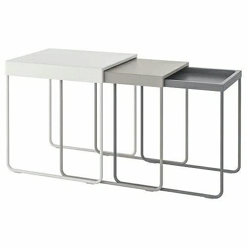 IKEA イケア GRANBODA グランボダ ネストテーブル3点セット z70386683の写真