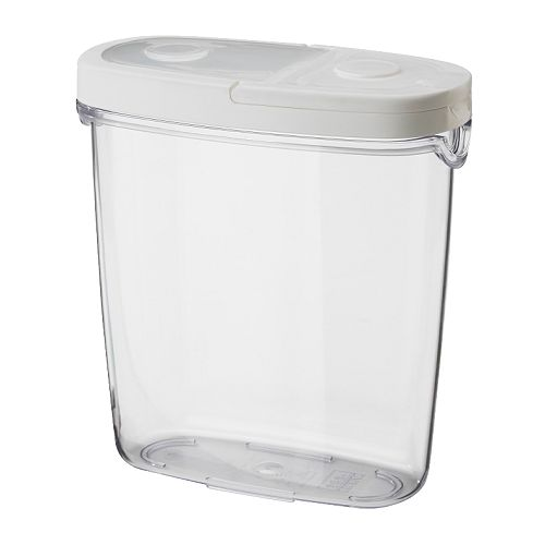 IKEA イケア IKEA 365+ 乾燥食品用容器 ふた付き 透明 ホワイト 10134023