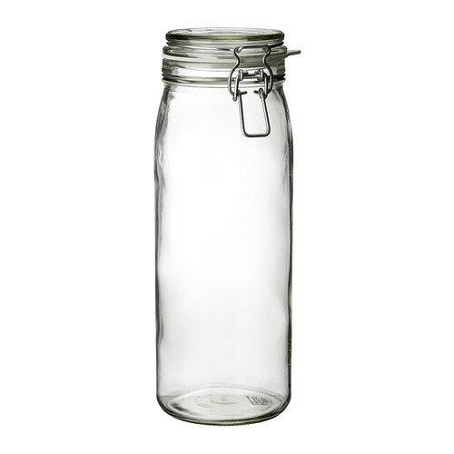 IKEA イケア KORKEN ふた付き容器 クリアガラス a10213548