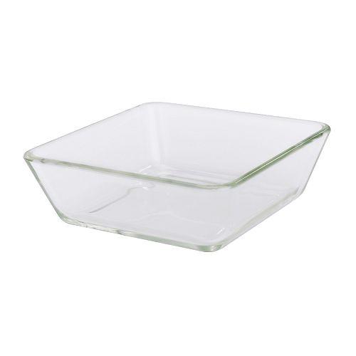 IKEAイケアオーブン対応皿15x15cmクリアガラスMIXTURa00133972