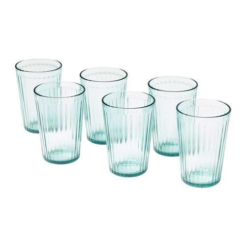 IKEA イケア KALLNA グラス コップ 6ピース 310ml グリーン z60342996