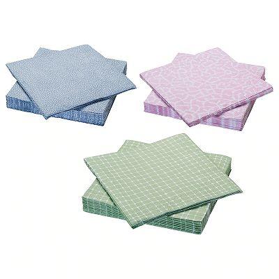 IKEA イケア ENTUSIASM 紙ナプキン アソートカラー n00438987※写真のいずれか1点です※※ご希望の色がありましたらご注文時の備考欄にご記入ください※