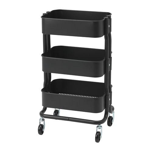 IKEA イケア RASHULT ロースフルト キッチンワゴン ブラック 黒 n30445991 【当店オススメ】